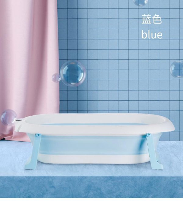 Thau tắm gấp gọn kèm phao kèm nhiệt kế đo nước