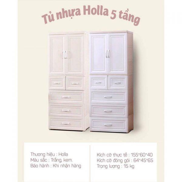 Tủ nhựa cao cấp Holla 5 tầng